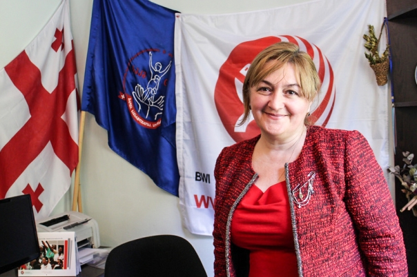 Marina Kurtanidze, ordförande för det georgiska bygg- och träfacket